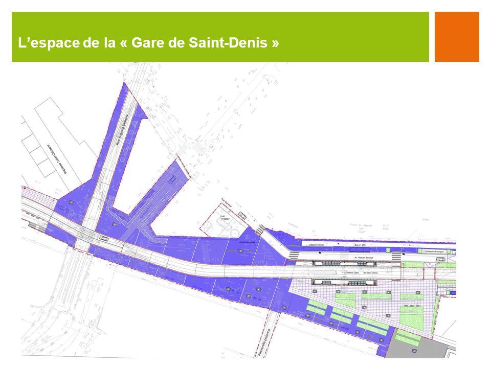 L'espace de la « Gare de Saint-Denis »