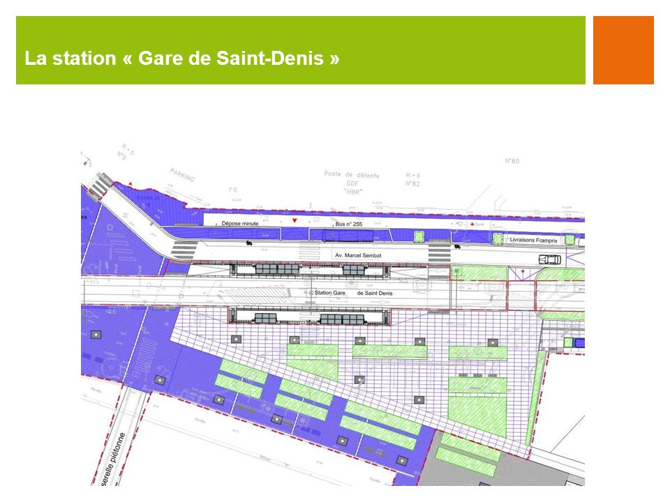 La station « Gare de Saint-Denis »