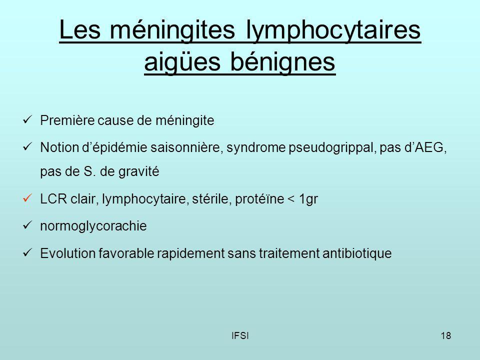 Les méningites lymphocytaires aigües bénignes