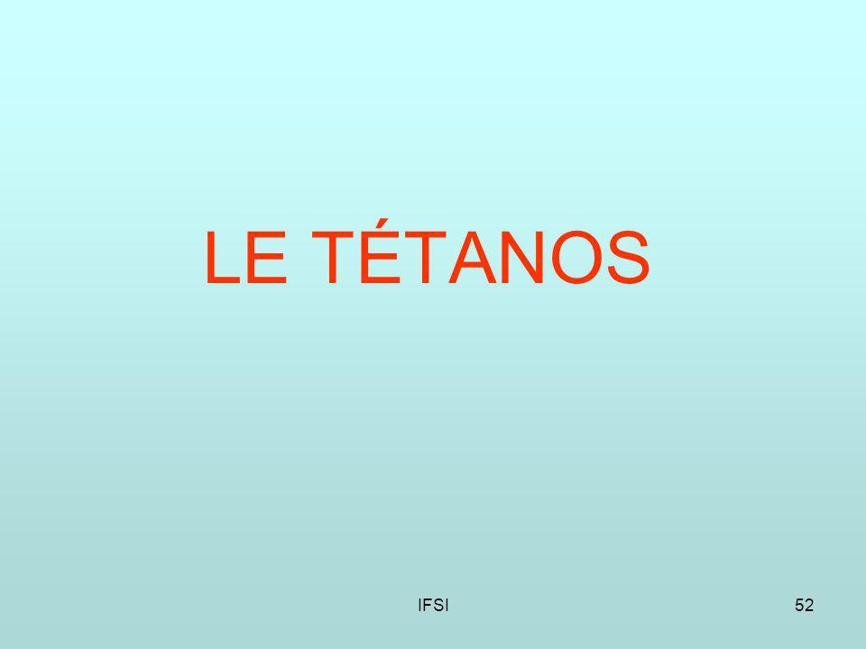 LE TÉTANOS IFSI