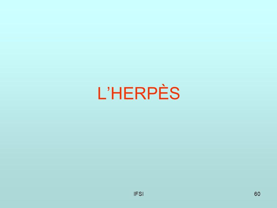 L'HERPÈS IFSI