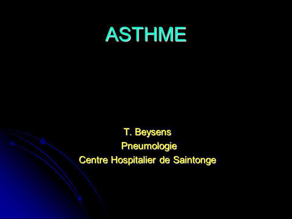 T. Beysens Pneumologie Centre Hospitalier de Saintonge
