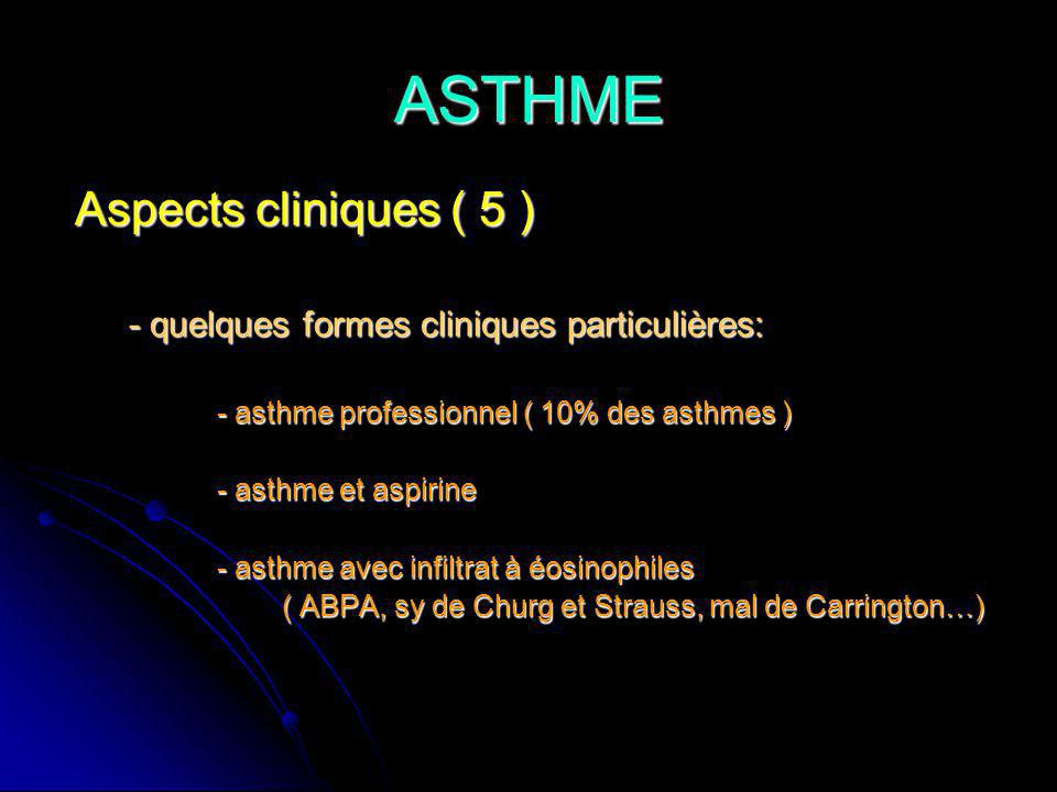 ASTHME Aspects cliniques ( 5 )