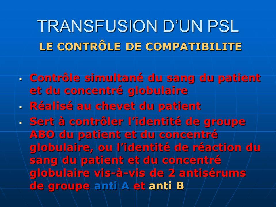 LE CONTRÔLE DE COMPATIBILITE