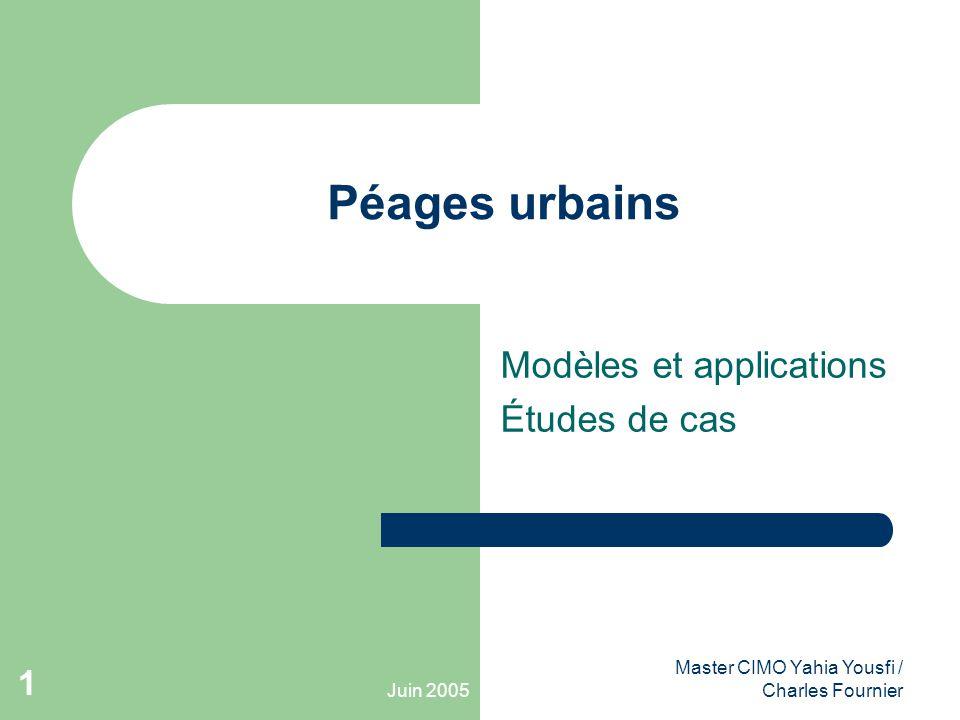 Modèles et applications Études de cas