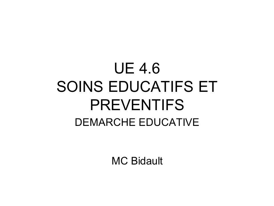 UE 4.6 SOINS EDUCATIFS ET PREVENTIFS