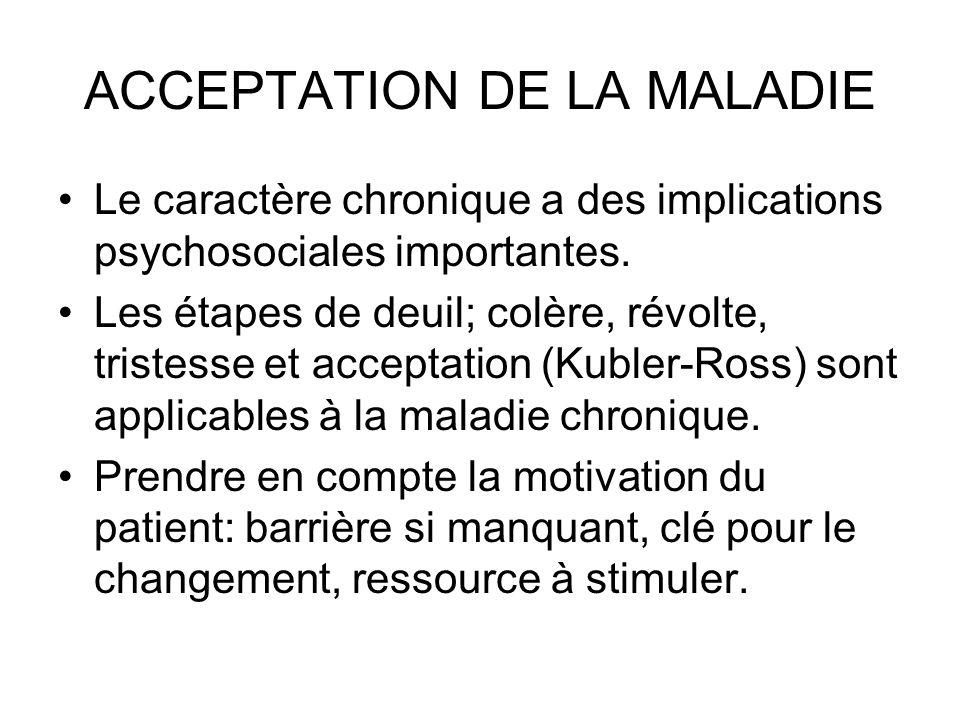 ACCEPTATION DE LA MALADIE