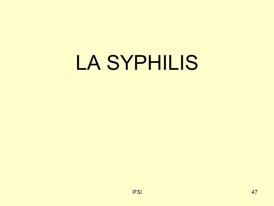 LA SYPHILIS IFSI