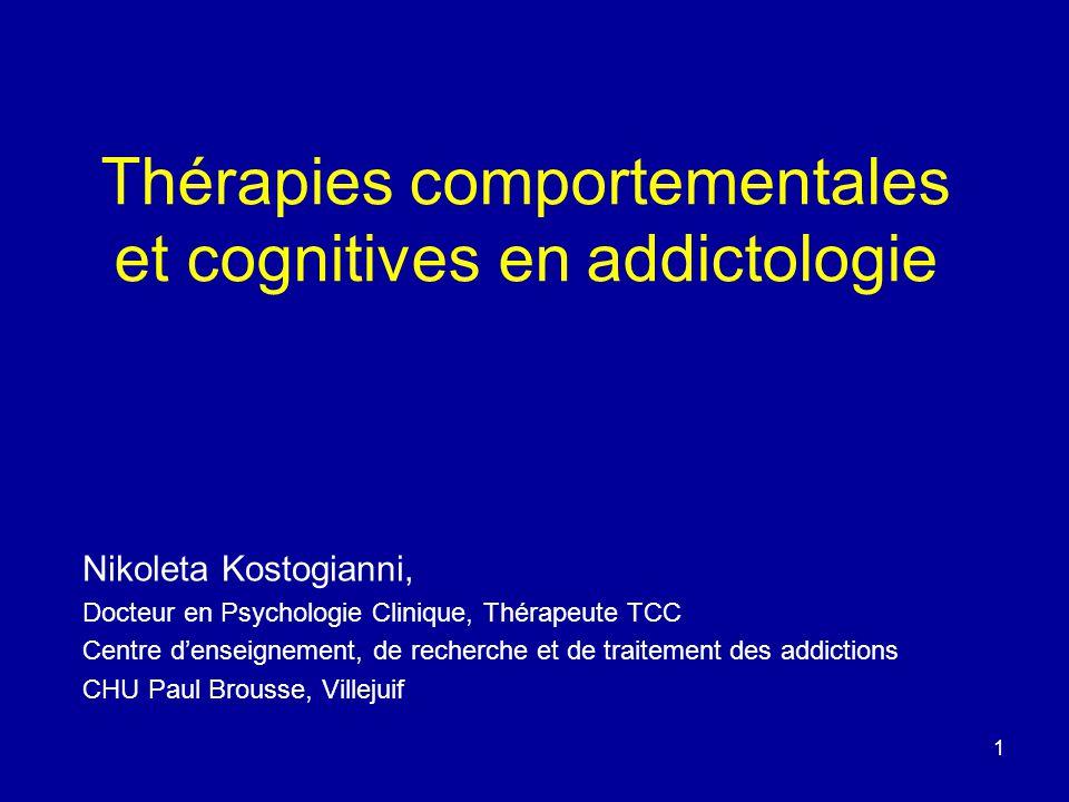 Thérapies comportementales et cognitives en addictologie