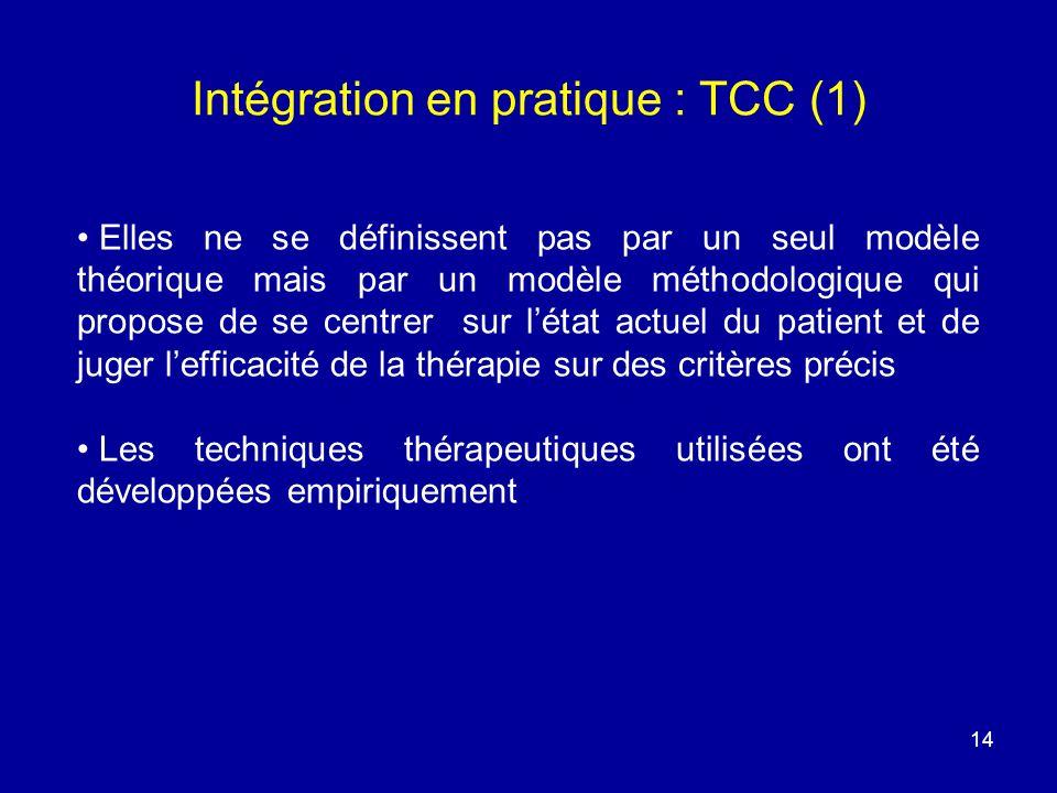 Intégration en pratique : TCC (1)