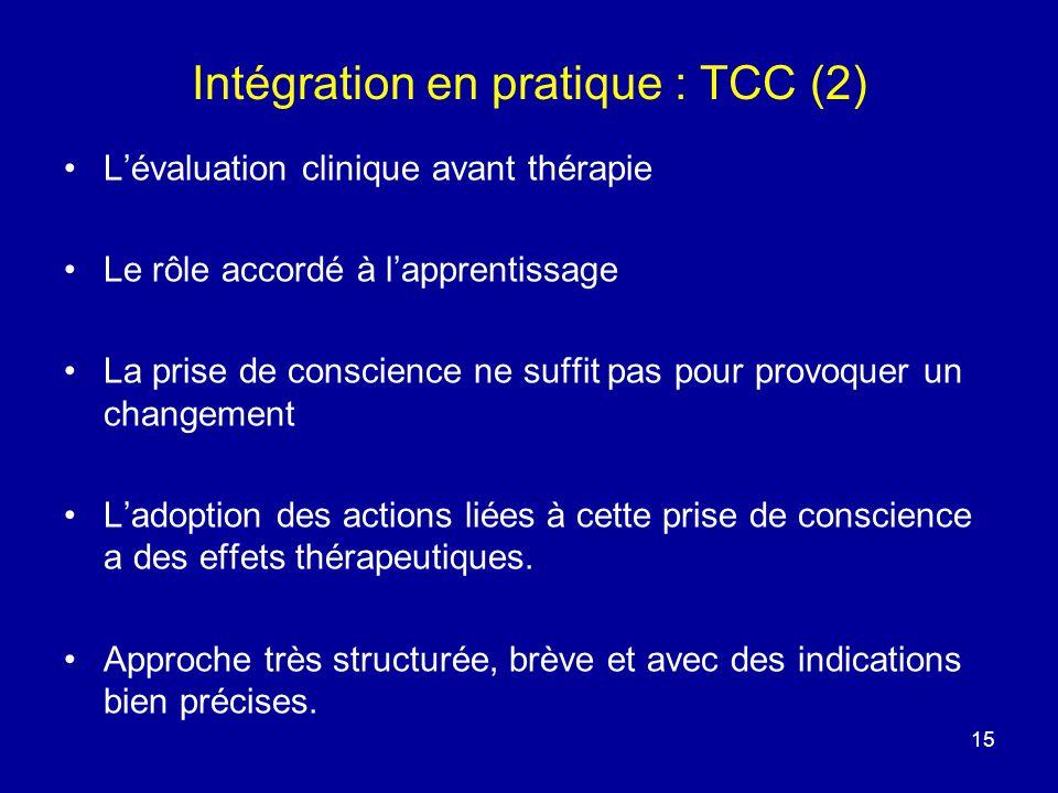 Intégration en pratique : TCC (2)