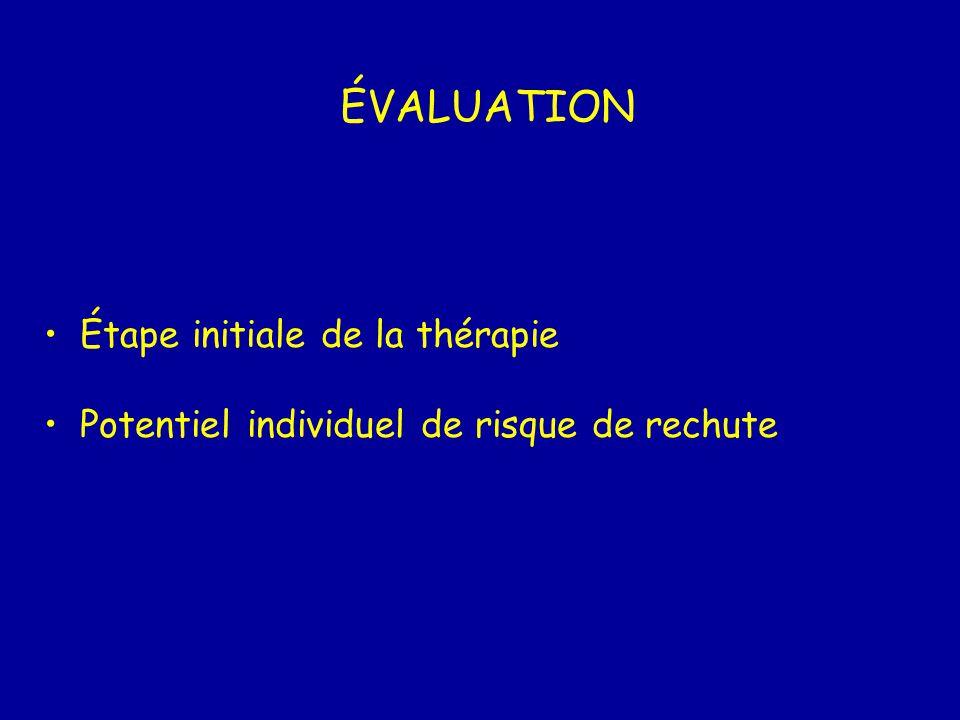 ÉVALUATION Étape initiale de la thérapie