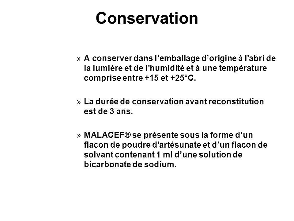 Conservation A conserver dans l'emballage d'origine à l abri de la lumière et de l humidité et à une température comprise entre +15 et +25°C.