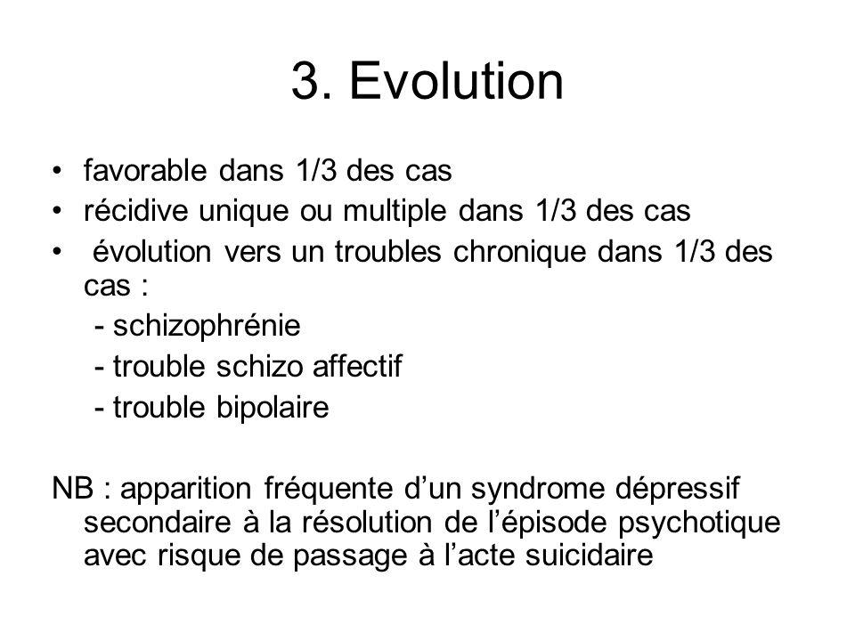 3. Evolution favorable dans 1/3 des cas