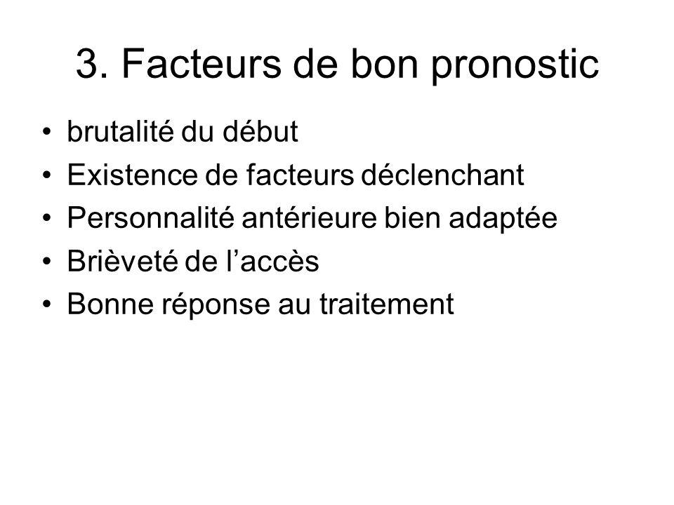 3. Facteurs de bon pronostic