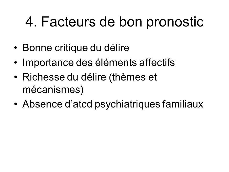 4. Facteurs de bon pronostic