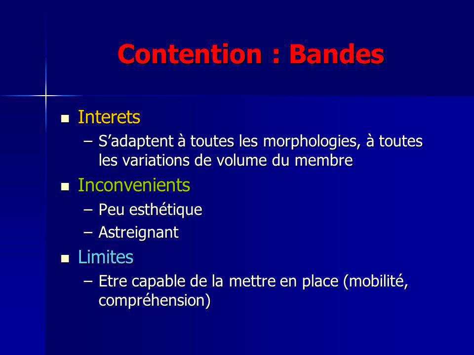 Contention : Bandes Interets Inconvenients Limites