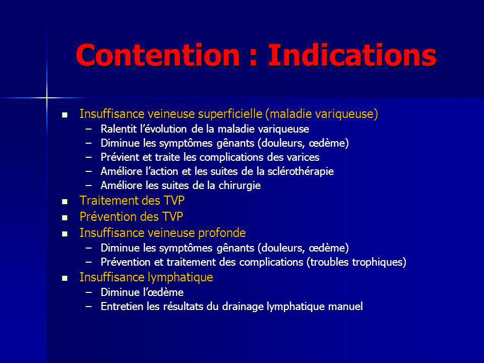 Contention : Indications