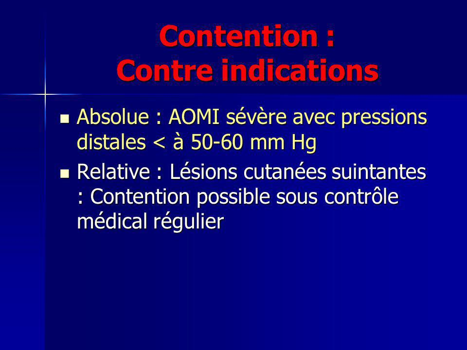 Contention : Contre indications