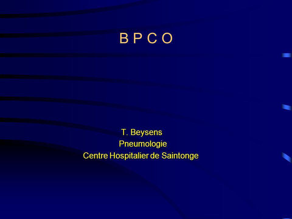 B P C O T. Beysens Pneumologie Centre Hospitalier de Saintonge