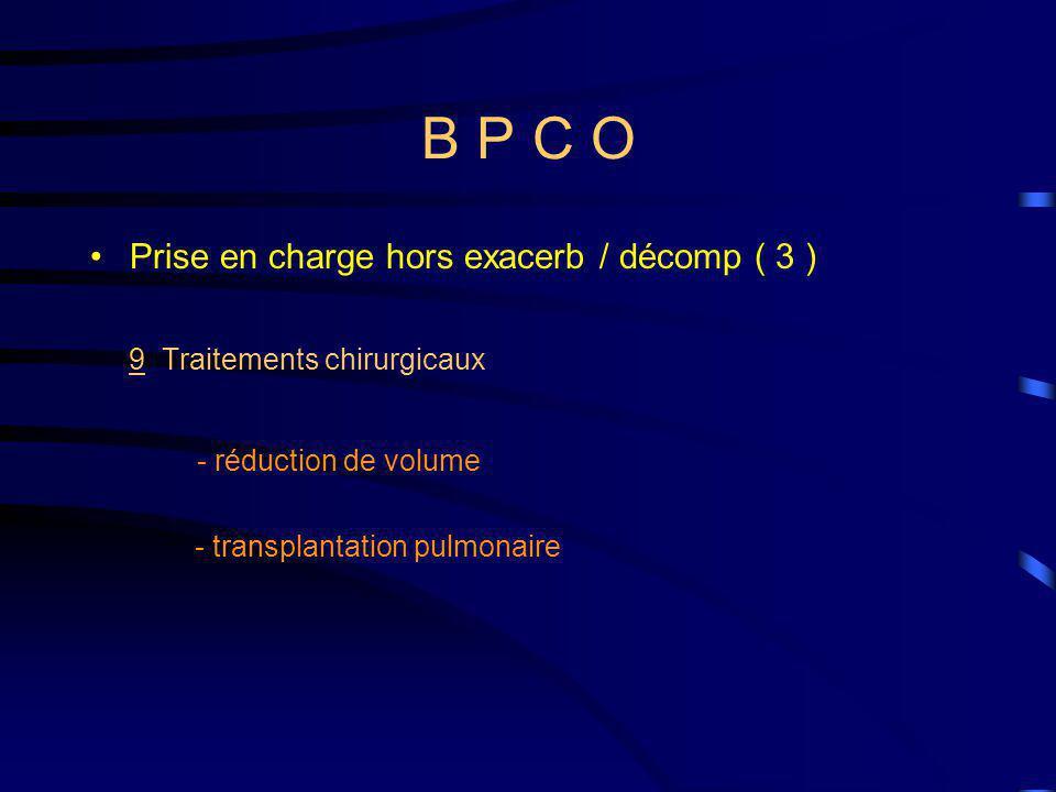 B P C O Prise en charge hors exacerb / décomp ( 3 )