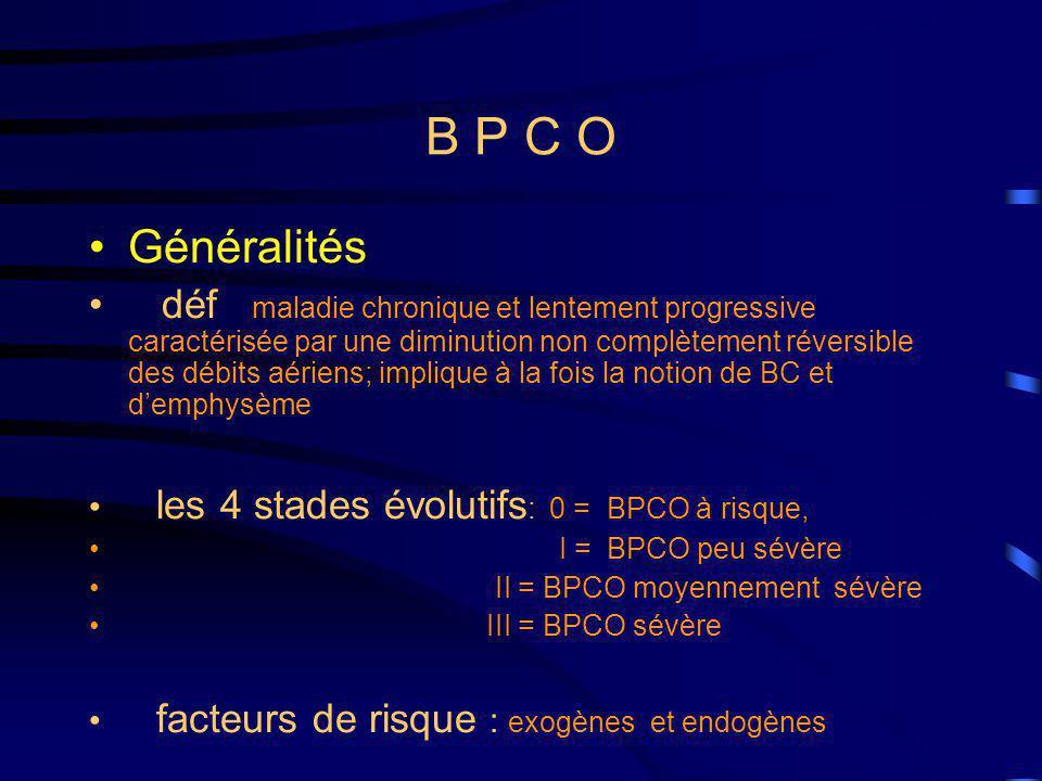 B P C O Généralités.