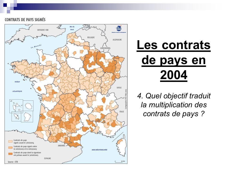 Les contrats de pays en 2004 4. Quel objectif traduit la multiplication des contrats de pays