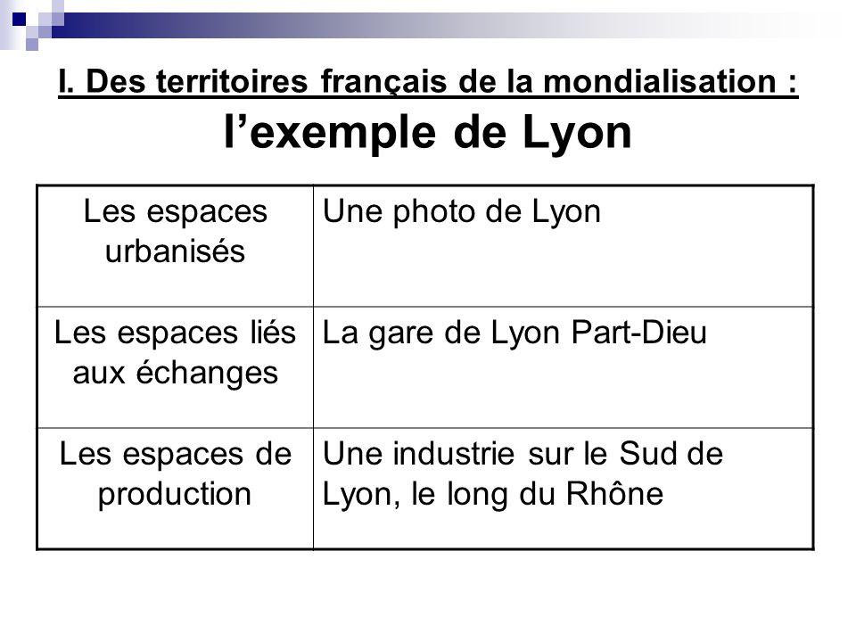 I. Des territoires français de la mondialisation : l'exemple de Lyon