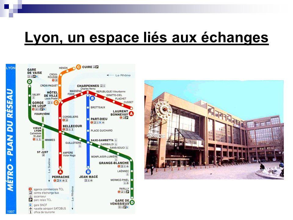 Lyon, un espace liés aux échanges