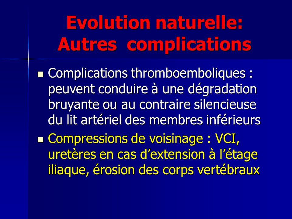 Evolution naturelle: Autres complications