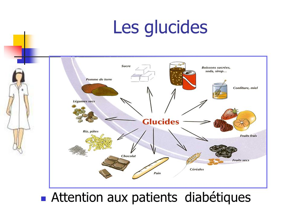 Les glucides Attention aux patients diabétiques