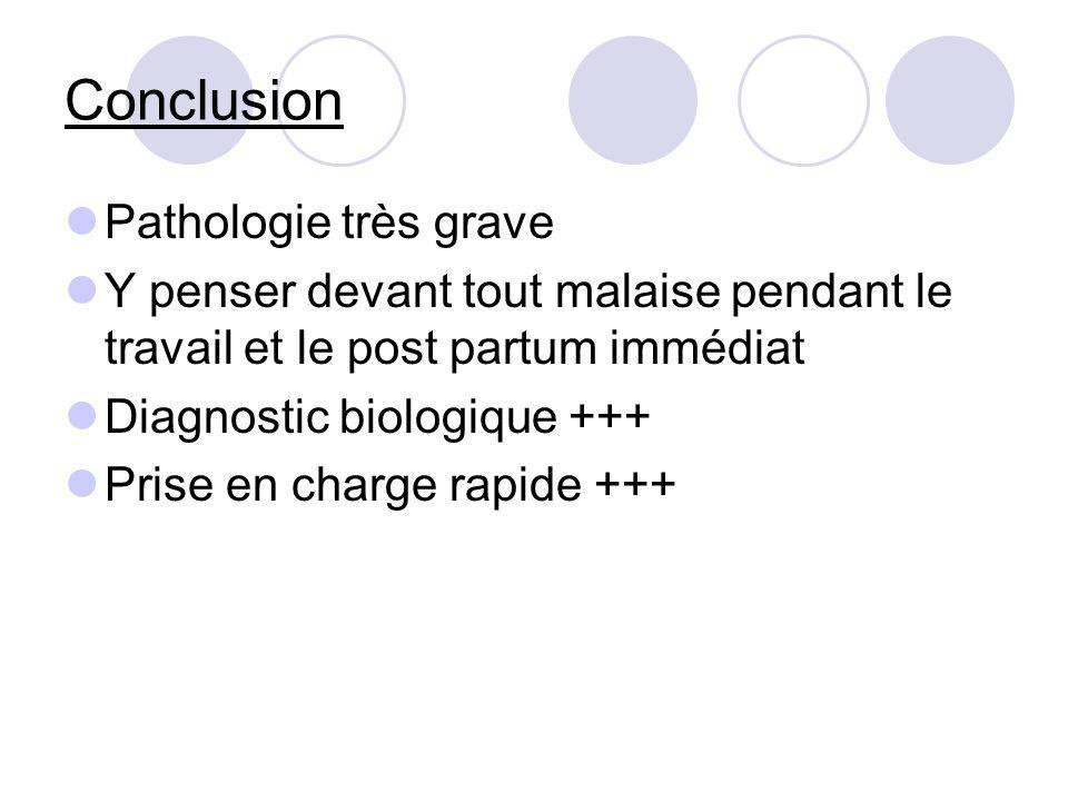 Conclusion Pathologie très grave