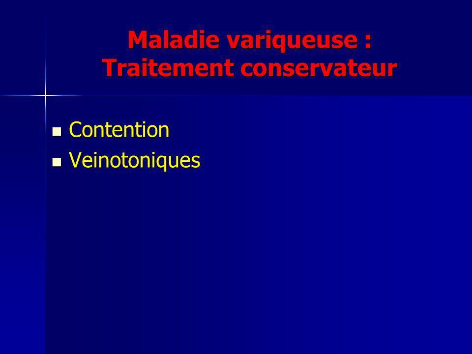 Maladie variqueuse : Traitement conservateur