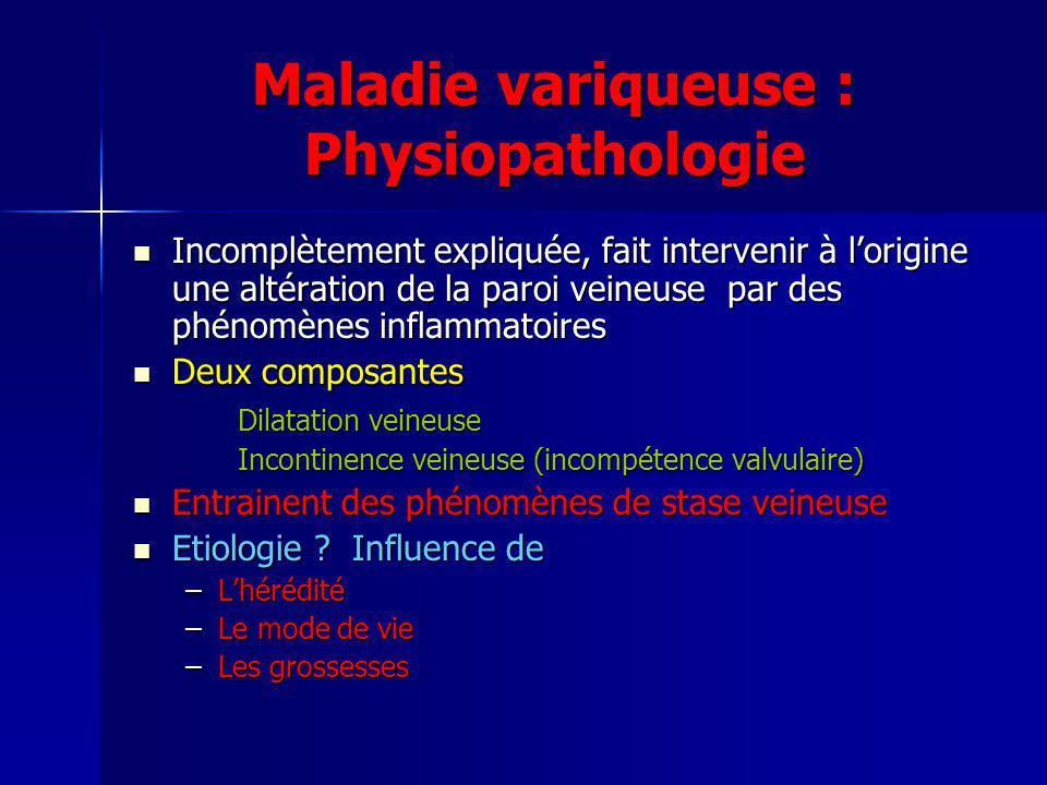 Maladie variqueuse : Physiopathologie