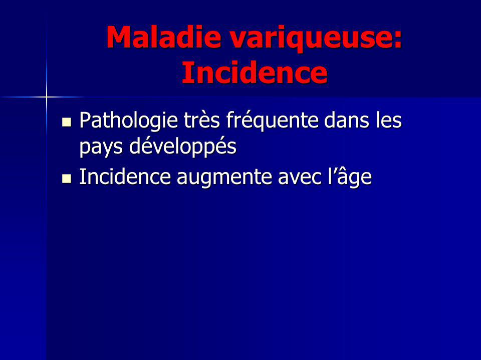 Maladie variqueuse: Incidence