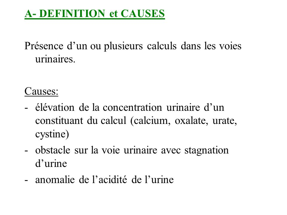 A- DEFINITION et CAUSES