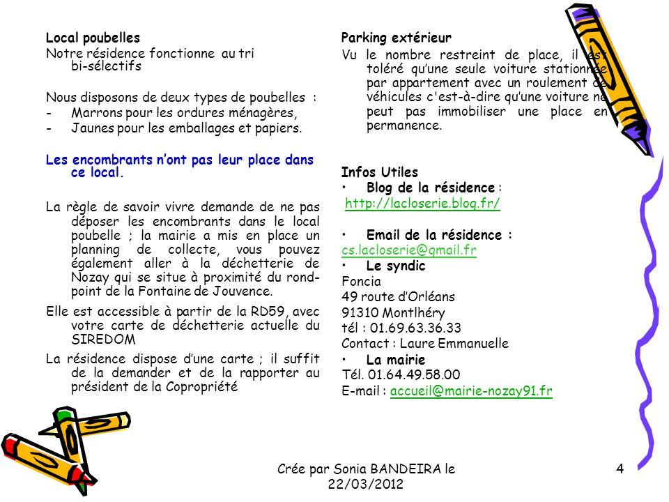 Crée par Sonia BANDEIRA le 22/03/2012