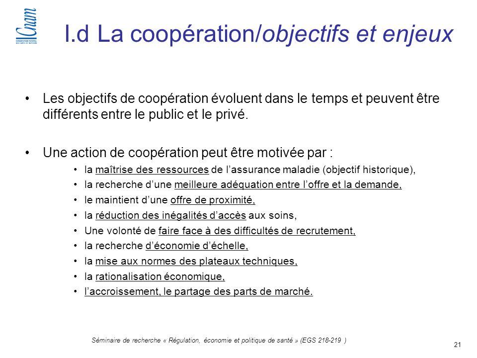 I.d La coopération/objectifs et enjeux