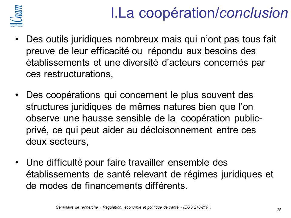 I.La coopération/conclusion