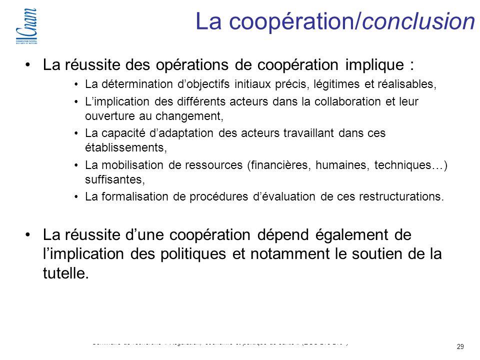 La coopération/conclusion