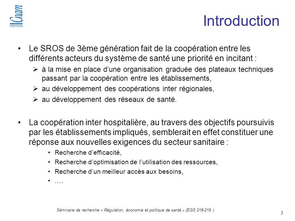 Introduction Le SROS de 3ème génération fait de la coopération entre les différents acteurs du système de santé une priorité en incitant :