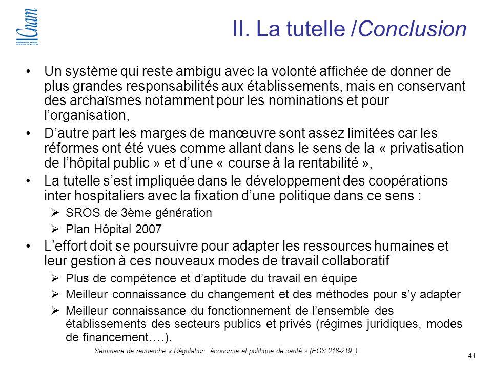 II. La tutelle /Conclusion