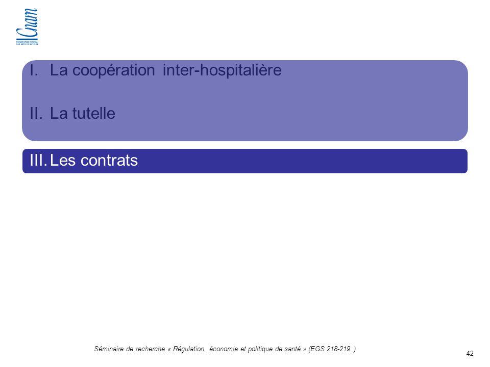 La coopération inter-hospitalière La tutelle Les contrats