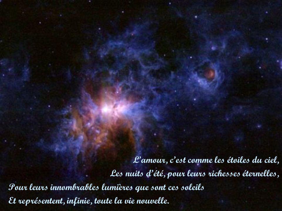 L'amour, c'est comme les étoiles du ciel,