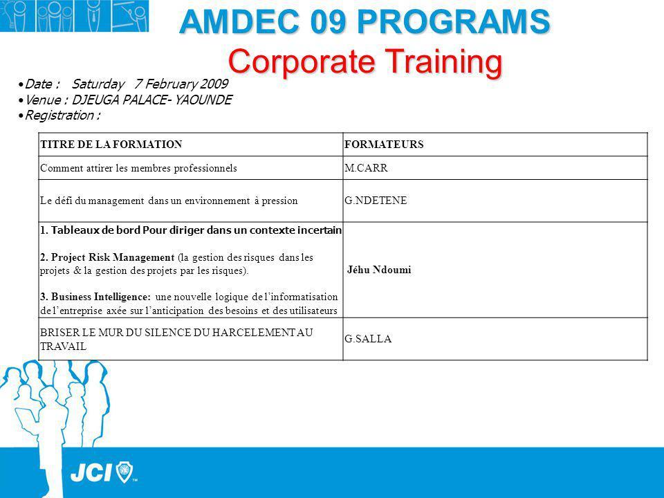 AMDEC 09 PROGRAMS Corporate Training