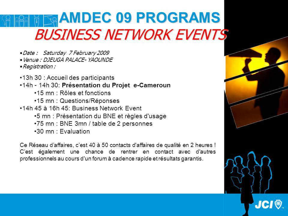 AMDEC 09 PROGRAMS BUSINESS NETWORK EVENTS
