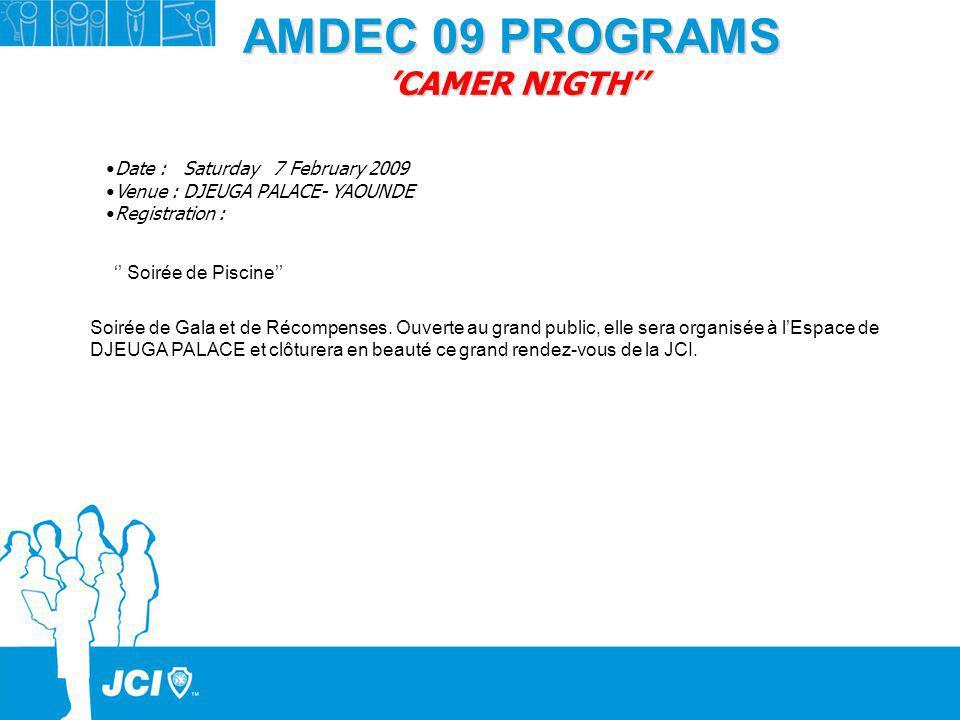 AMDEC 09 PROGRAMS 'CAMER NIGTH''