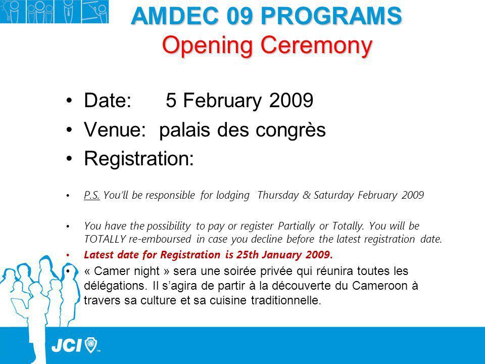 AMDEC 09 PROGRAMS Opening Ceremony