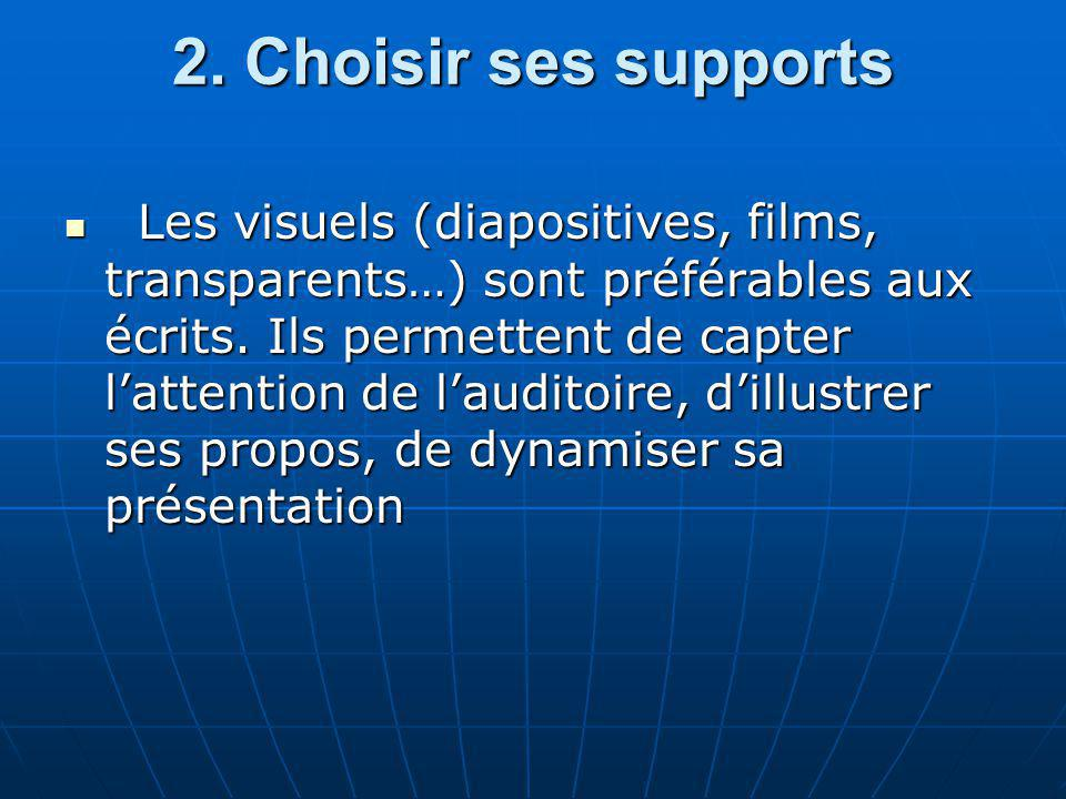 2. Choisir ses supports