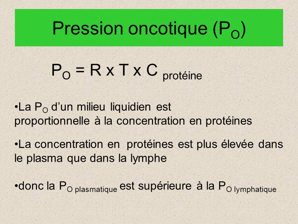Pression oncotique (PO)
